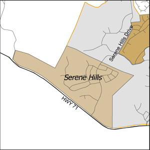 SereneHillsMap